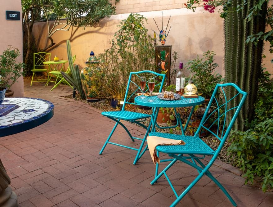 Exterior Patio Seating for two