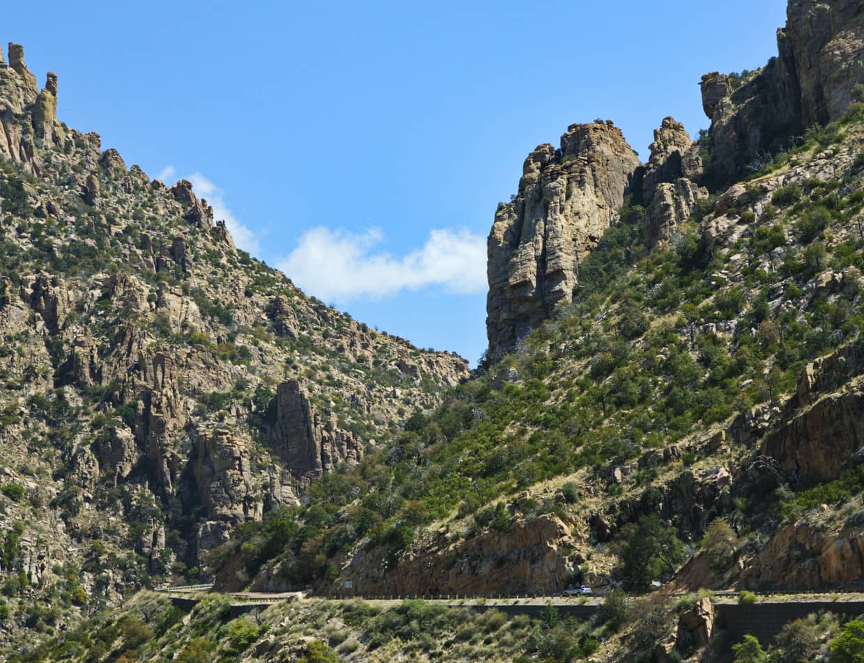 Mount Lemmon byway and scenic cliffs